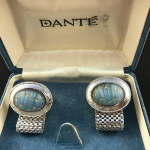 Vintage Dante wrap cufflinks in original box